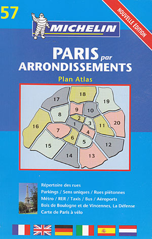 Paris par arrondissements (Plan atlas Michelin)