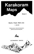 Karakoram Maps ( sheet 2 ) Skardu, Hispar, Biafo area