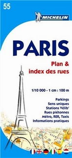55 Paris. Plan & index des rues