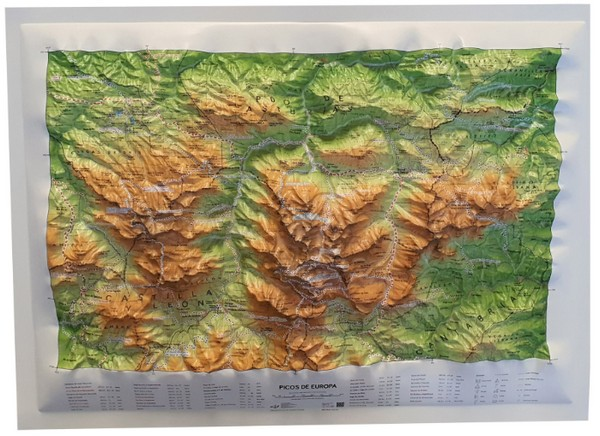 Mapa relieve Picos Europa (All 3D Format)