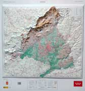 Mapa en relieve Comunidad de Madrid